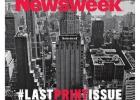 'Newsweek' cierra su edición de papel con una simbólica portada