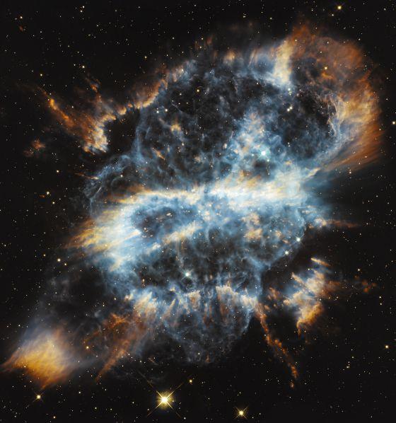 La nebulosa planetaria NGC 5189 fotografiada por el telescopio 'Hubble'.