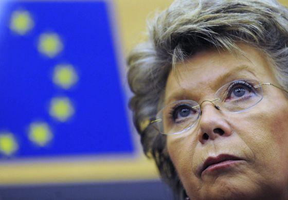 La vicepresidenta de la CE y responsable de Justicia, Viviane Reding.  EFE