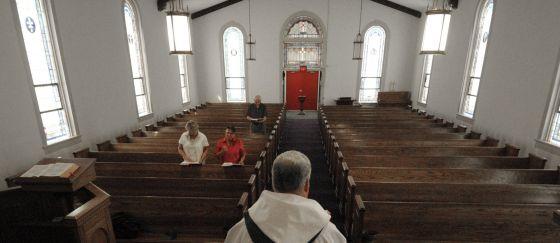 Una misa católica en Carolina del Norte (EE UU).