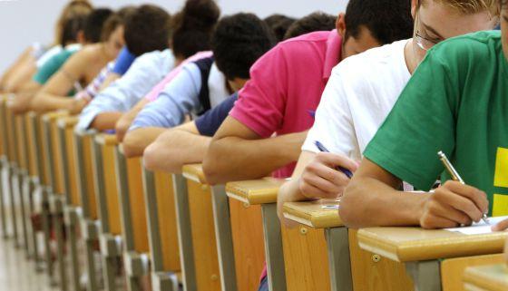 Un examen en la Universidad Pablo Olavide de Sevilla.