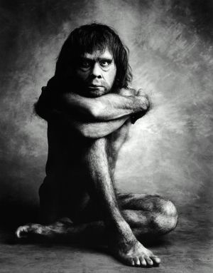 Recreación de un hombre de Neandertal por el fotógrafo Graham Ford.