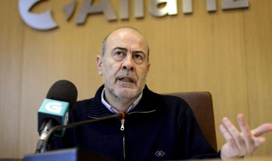 El alcalde de Allariz, Francisco García Suárez, hoy.
