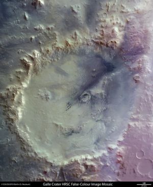 El cráter Galle de Marte, fotografiado por la nave espacial europea 'Mars Express'.