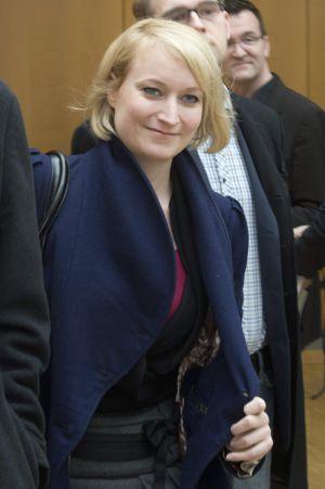 La periodista Laura Himmelreich a su llegada al desayuno de prensa convocado por el Partido Liberal Alemán.