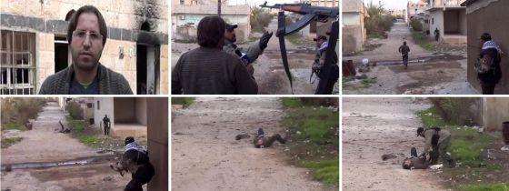 Secuencia de imágenes en la que se muestra cómo fue la muerte del colaborador de Al Yazira Mohammed Hourani.