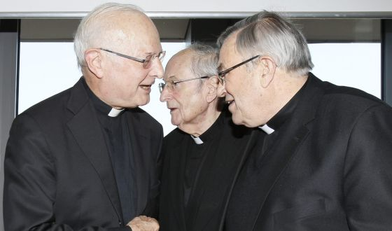 Robert Zolitsch y los cardenales de Colonia y Mainz, Meisner y Lehman.