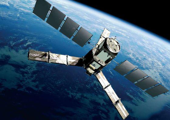 Ilustración del satélite europeo 'SMOS' que mide la salinidad del océano y la humedad del suelo.