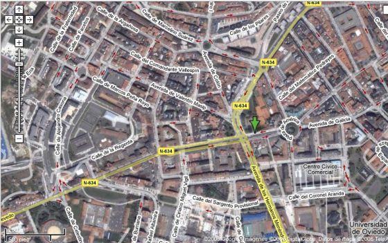 Una imagen del servicio de mapas de Google.
