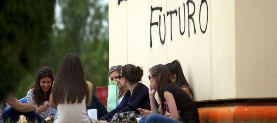 Alumnos en la Universidad Complutense de Madrid.