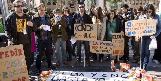 Trabajadores de El Día y de la cadena CNC se c0ncentraron en marzo contra el cierre de estos medios.