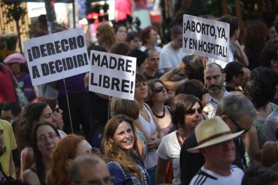 Manifestación por la legalización del aborto.