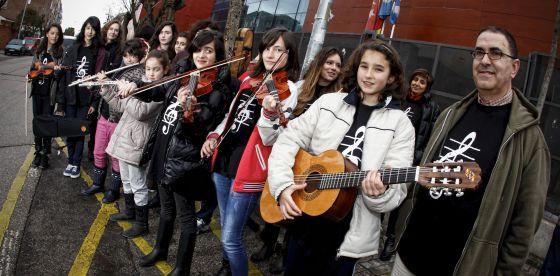 Grupo de alumnos de la Escuela Municipal de Música Raimundo Truchado de Ciempozuelos.