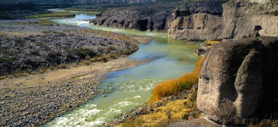 El Río Grande a su paso por Tejas.