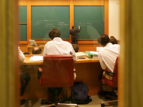 Alumnos de un MBA de la escuela de negocios IESE.