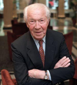 Christian de Duve, premio Nobel de Medicina en 1974.