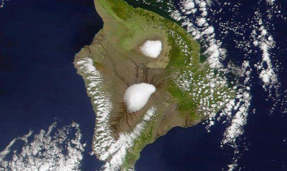 El volcán Mauna Loa (Hawai) donde se toman las muestras en una imagen de la NASA.