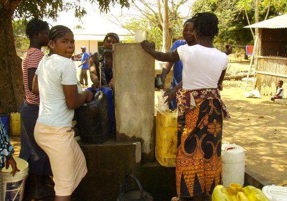 Proyecto para proveer de agua a un distrito de Mozambique.