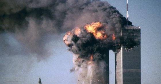 Imagen de archivo de las torres gemelas durante el ataque del 11S.