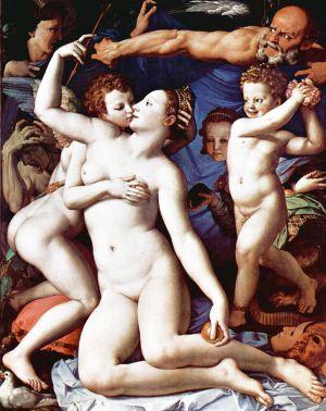 Alegoría del triunfo de Venus, obra pictórica de Bronzino del siglo XVI.