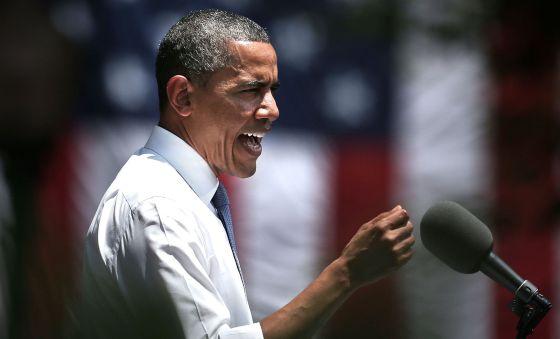 El presidente de EE UU, Barack Obama, durante la presentación de su plan energético en la universidad de Georgetown.