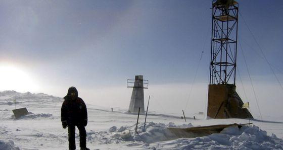 Área del lago Vostok, en la Antártida, donde se tomaron muestras de hielo a unas profundidades de 3.500 metros.