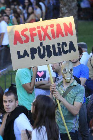 Manifestación en Sevilla contra los recortes en educación, en 2012.