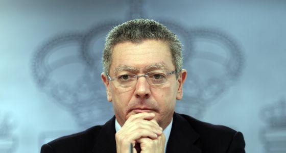 Alberto Ruiz Gallardón, tras el Consejo de Ministros del 19 de julio.