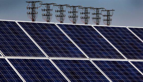 Paneles solares en Cieza ( Murcia).
