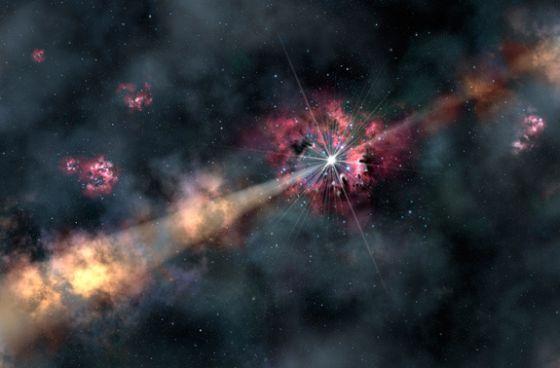Una explosión estelar ilumina una galaxia lejana y desvela su existencia