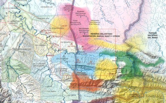 Las zonas amarillas son de pueblos en aislamiento voluntario y coinciden con la zona donde se realizará la ampliación de actividades de Pluspetrol.rn