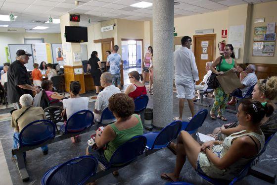 La sala de espera de un centro de salud malagueño el pasado 2 de agosto.