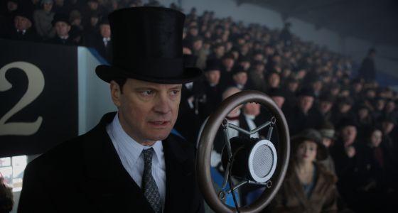 El actor Colin Firth, en el papel de Jorge VI, en la película 'El discurso del rey'.