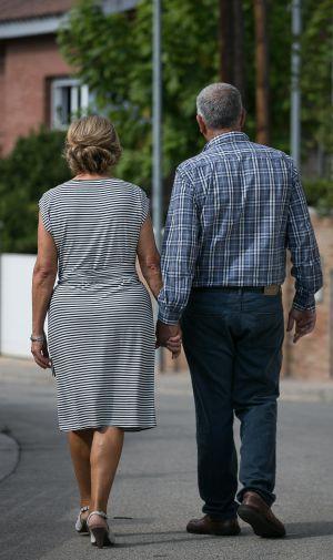 Maria y Antonio han participado en un trasplante cruzado de riñón en Corbera de Llobregat.