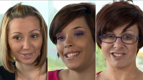Amanda Berry, Gina DeJesus y Mivhelle Knight, las jóvenes secuestradas en Cleveland.