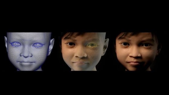 La ONG Terre des Hommes ha creado la imagen de Sweetie, de 10 años y filipina.
