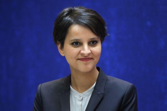 La ministra francesa de Derechos de las Mujeres, Najat Vallaud-Belkacem.