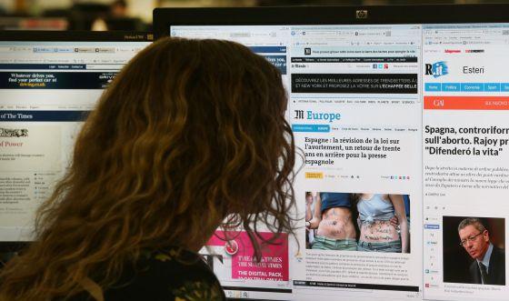 Medios como 'The Times', 'Le Monde' o 'La Repubblica' se han hecho eco de la reforma de la ley del aborto.