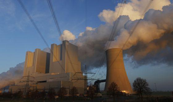 Planta de energía eléctrica que funciona con carbón en Alemania.