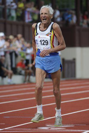 Pauwels, en el campeonato de Europa de veteranos de Zittau (Alemania), que ganó.