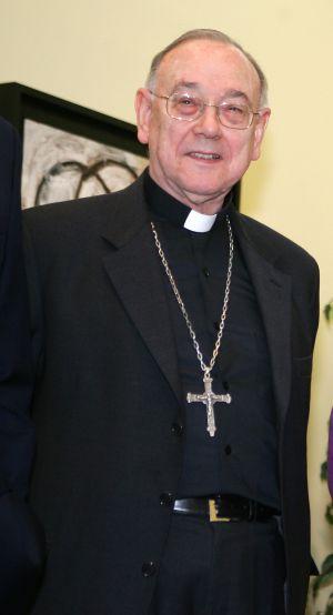 El arzobispo, Fernando Sebastián, en una reunión en el Palacio de la Moncloa, en 2005.