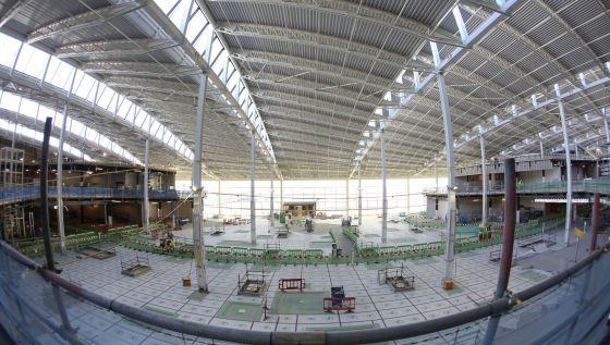 Construcción de la nueva terminal 2 del aeropuerto de Heathrow.