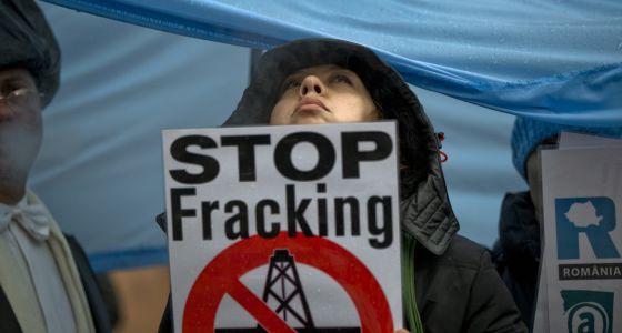 Protesta contra el 'fracking' en Rumanía