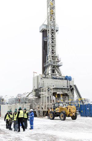 Pozo de exploración en Gapowo (Polonia) en el que la empresa BNK busca extraer gas de esquisto mediante fracking.