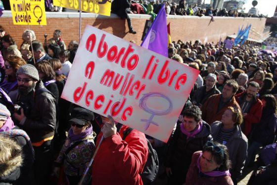 Un momento de la protesta en Madrid.