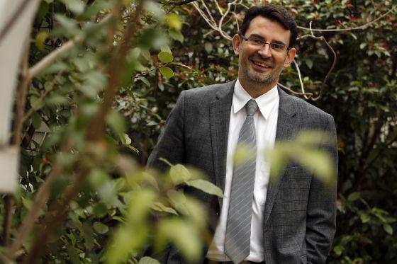 El investigador Óscar Marín, en la Fundación BBVA, en Madrid.