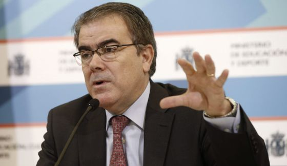 El secretario general de Universidades, Federico Morán, durante la presentación del estudio.
