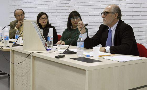 De izquierda a derecha Santiago Dexeus, Pilar Martínez-Ten, Eudoxia Gay y Javier Martínez-Salmeán.