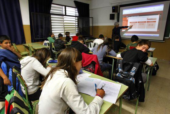 Alumnos de un instituto de Mataró (Barcelona).