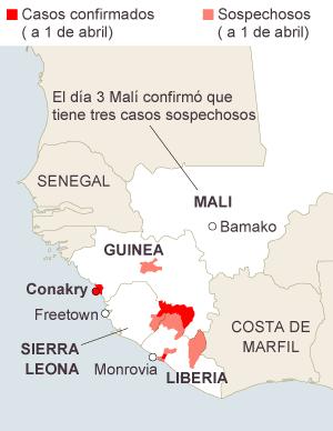 Virus Ébola, miles de personas muertas en África: Guinea, Liberia, Sierra Leona, Nigeria, Mali, República Democrática del Congo... 1396626220_747926_1396638088_sumario_normal